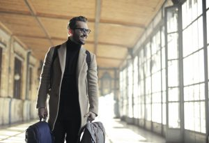 Man traveling after visiting dentist in Freedom